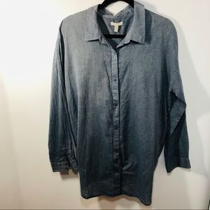 Eileen Fisher Button front and back blouse